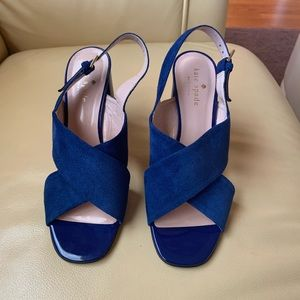 NWOB Kate Spade Blue NY Christopher Suede Sandals